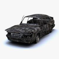 Saab 900 Turbo Burnt