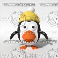 3d model cartoon christmas penguin