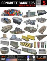 Concrete Barricade Pack 25
