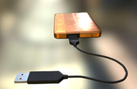 External HDD With USB Cable Rigged Copper Version