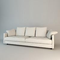 sofa giorgetti wally 3d model