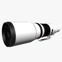 canon ef 500mm f4 3d model