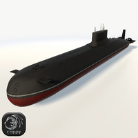Typhoon Class Submarine low poly