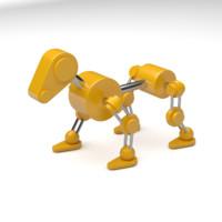 Yellow Robot Dog