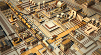 3d industrial electronic model