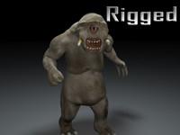 Rigged cyclop character