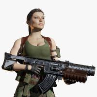 Soldier Female PBR