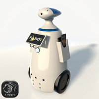 Promotional robot R.bot 100 low poly