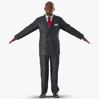 3d c4d businessman african american