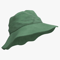 fishing hat 3 3d model