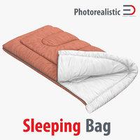 sleeping bag brown 3d max