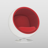 3d model ball chair eero aarnio