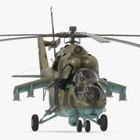 Russian Helicopter Mi-35M Rigged