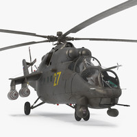 Russian Large Helicopter Gunship Mi 35M 2