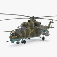 Russian Large Helicopter Gunship Mi-35M