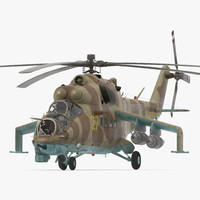 Russian Attack Helicopter Mil Mi-24B Hind