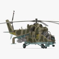 Russian Attack Helicopter Mil Mi-24B