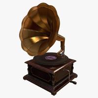 Gramophone (Game-ready model)