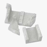 3d cinder blocks broken 01 model