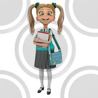 Girl student holding textbooks (2)
