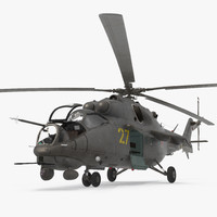 Russian Helicopter Hind Mi-35M Rigged