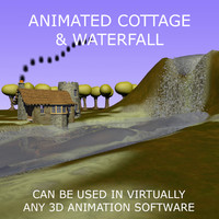 Animated Cartoon Cottage Scene