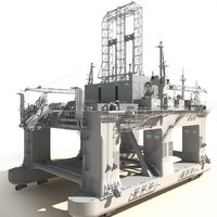 Oil Rig Semi-Submersible White generic