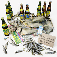 Beer and dried fish, RUS.