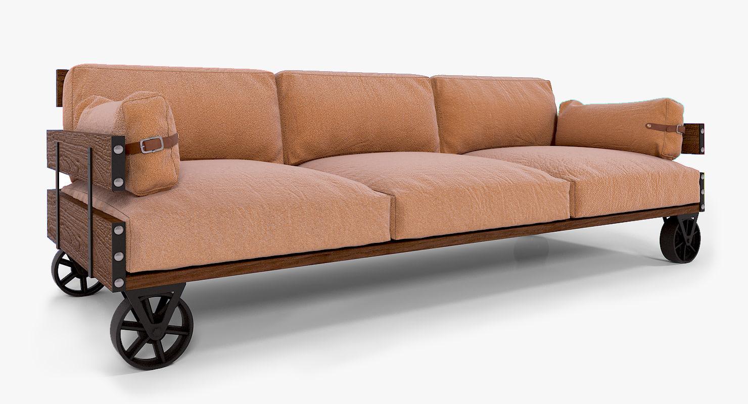 3d max sofa loft furniture. Black Bedroom Furniture Sets. Home Design Ideas