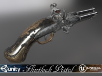 "Flintlock pistol ""Night Quartet"