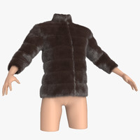 3ds fur clothing mannequin
