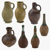 Jugs in Baskets and Ceramic Wine Jugs