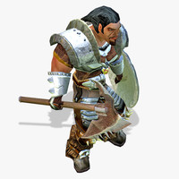 Warrior Lowpoly Character