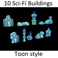 10 Toon Scifi buildings