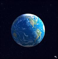earth galaxy stars 3d model