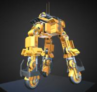 Futuristic Trike High Poly Version 5