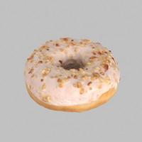 Hazelnut White Chocolate Donut