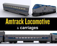 Amtrak Locomotive & carriage
