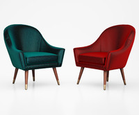 Seattle Armchair, Petrol Cotton Velvet by Made