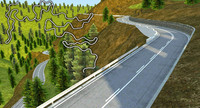 3d hill race track model