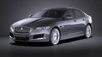 Jaguar XF 2017 bixenon VRAY