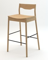 Tangerine Stool with back