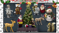 christmas ornaments pack 3d max