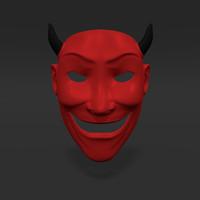 satan mask 3d model