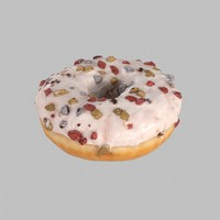 Christmas Frosting White Chocolate Donut