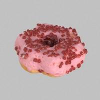 Strawberry Star Donut