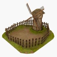 Windmill on glade