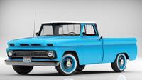 chevrolet pickup 1964 3d obj