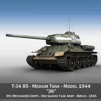 T-34 85 - Soviet medium tank - 36
