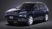 3d model 2016 jeep cherokee